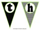 Classy Classroom Subject Pennant in Black, White, and Lime