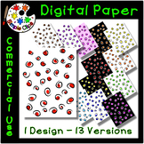 Classy Spots Digital Paper / Background {Simple Clips}