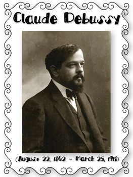 Claude Debussy Composer of the Month Bulletin Board Set {Youtube Links}