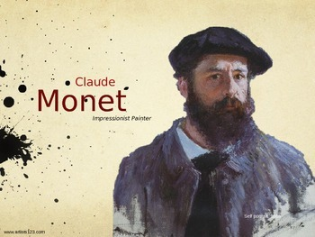 Claude Monet Art History Unit Study