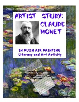 Claude Monet En Plein Air Art and Reflective Writing Project