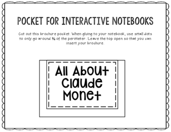 Claude Monet - Famous Artist Biography Research Project, Interactive Notebook