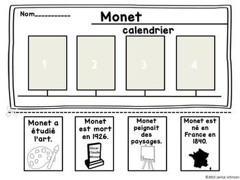 Claude Monet French Reader Organizer, & Timeline {En français}
