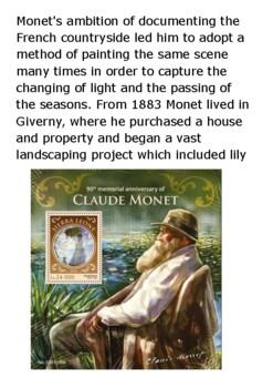 Claude Monet Handout