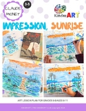 Claude Monet Impression Sunrise Lesson Plan Pack with Worksheets