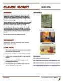 Claude Monet Informational Worksheet