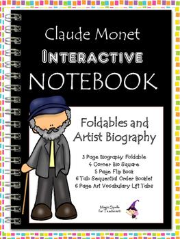 Claude Monet Interactive Notebook Foldables