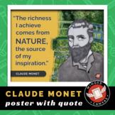 Claude Monet Art History Poster - Famous Artist Quote