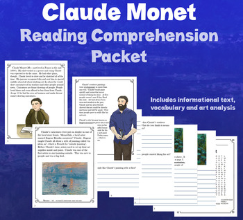 Claude Monet Reading Comprehension Packet