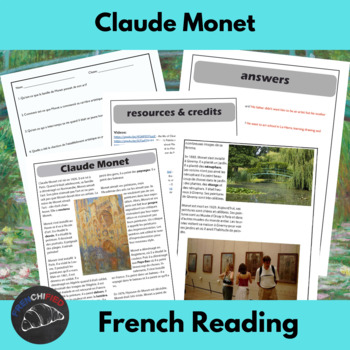 Claude Monet - Reading for French learners