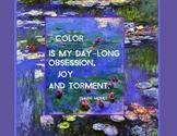 Claude Monet,Water Lilies,Color Quote,Impressionism,Art poster,Famous Artist