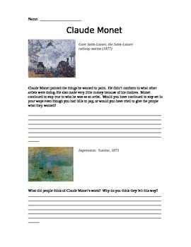 Claude Monet - responses to his work