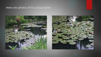 Claude Monet's Lily Pads-  Art History and Color Lesson Grades K-3