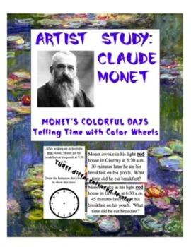 Claude Monet's Colorful Days Time Activity