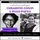 Claudette Colvin & Rosa Parks • Reading Comprehension Pass