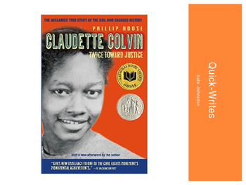 Claudette Colvin Twice Toward Justice Journal Prompts