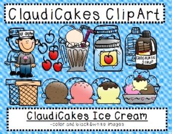 ClaudiCakes Ice Cream Clipart