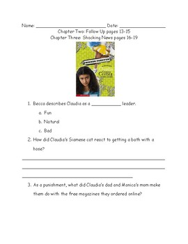 Claudia Cristina Cortez Friends Forever Comprehension Packet