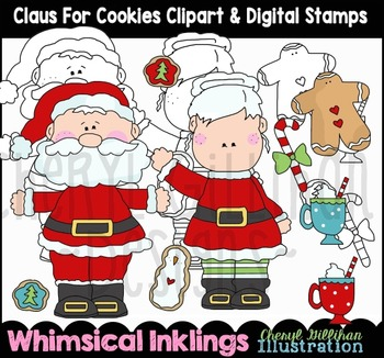 Claus for Cookies Christmas Clipart Collection NO LICENSE REQUIRED