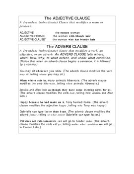 Clause Note Sheet and Clause Tips