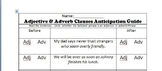 Clauses Anticipation Guide