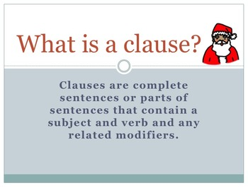 Clauses Power Point Presentation