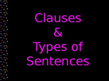 Clauses & Types of Sentences Review Slides