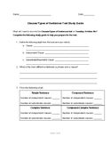 Clauses/Types of Sentences Study Guide