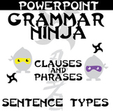 Clauses and Phrases - 4 Types of Sentences Review Game - Grammar Ninja