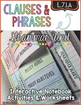 Clauses and Phrases Grammar Unit for L.7.1.A