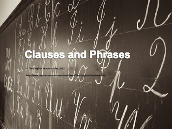 Clauses and Phrases PowerPoint