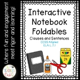 Clauses and Types of Sentences INB Foldables