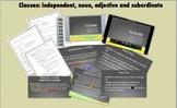 Clauses (independent, noun, adjective & subordinate): Video, PP, Notes, HW, Quiz