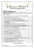 Grammar: Clauses & Types of Sentences - Worksheets