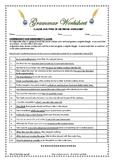 Grammar: Clauses & Types of Sentences - Worksheets