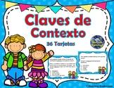 Claves de Contexto - Context Clues -SPANISH- Significado de Palabras -Task Cards