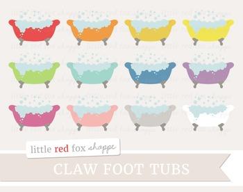 Claw Foot Tub Clipart; Bathroom