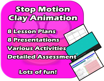 Clay Animation - Movie Making - Lots of fun!!! Complete Unit