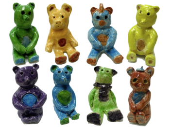 Clay Bear 3-D Sculpture Step-by-Step Power point with Media