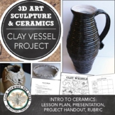 Clay Coil Vessel Project: Hand Building Clay with Positive & Negative Shapes