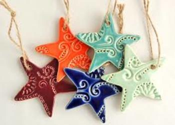 """Clay """"Cookie"""" Ornaments (For Christmas and other holidays)"""