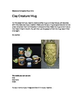 Clay Creature Mug- Special Needs