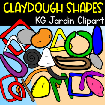 Clay Dough Random Rainbow Pieces Kg Jardin Clipart Tpt