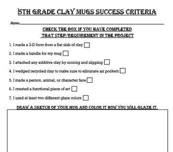 Clay Mug Success Criteria