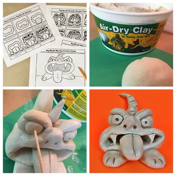Clay Pinch Pot Monsters Lesson