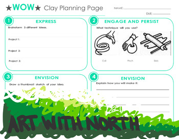 Clay Planning Page for the Art Room