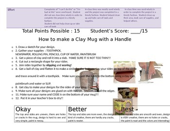 Clay Slab Mug Rubric