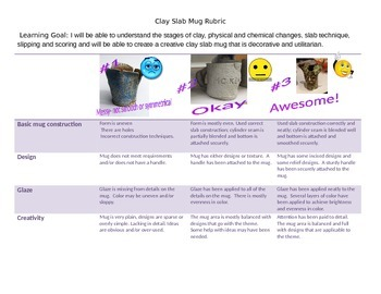 Clay Slab Mug Rubric