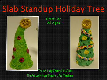 Clay Slab Standup Holiday Tree