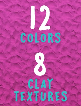 Clay Solid Color Digital Paper – Commercial Use